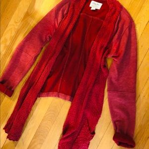 Red knit cardigan - size small